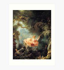 Lámina artística El columpio de Jean-Honoré Fragonard