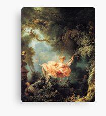 The Swing by Jean-Honoré Fragonard Canvas Print