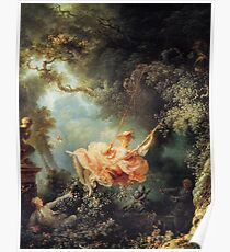 The Swing by Jean-Honoré Fragonard Poster