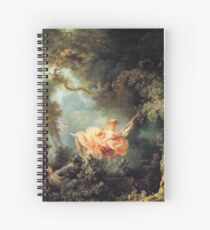 The Swing by Jean-Honoré Fragonard Spiral Notebook