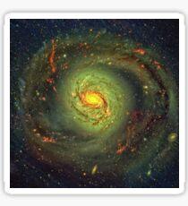 Spiral Galaxy Messier 77 In The Constellation Cetus Sticker