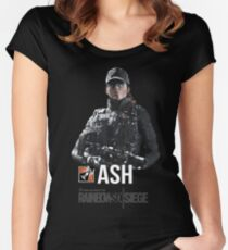 R6 - Ash | Operator Series Women's Fitted Scoop T-Shirt