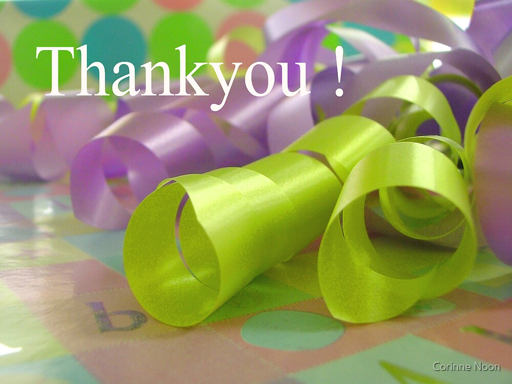 Thankyou Note by Corinne Noon