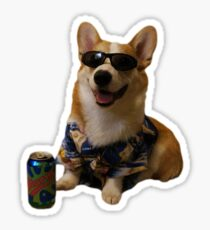 Cool Corgi Sticker
