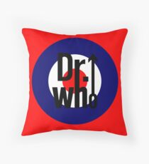 Doctor Who / The Who spoof w/ red background Throw Pillow