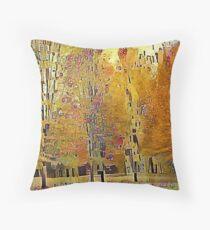 Klimt Trees Throw Pillow