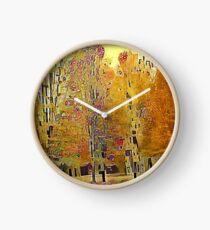 Klimt Trees Clock