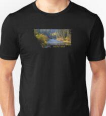 Montana- A River Flows through Autumn T-Shirt