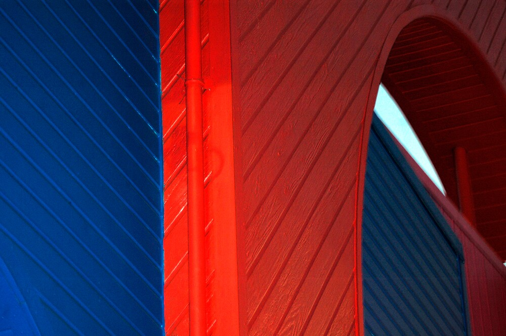 Blue Red Blue by Wilson Wyatt  Photography