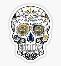 Quinnipiac Skull Sticker