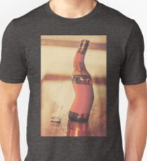 Distorted beer bottle doing a warped dance T-Shirt