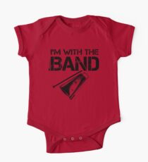 I'm With The Band - Cowbell (Black Lettering) One Piece - Short Sleeve