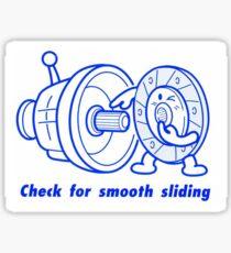 Check For Smooth Sliding Decal Slap Sticker