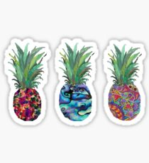 Patterned Pineapples Sticker