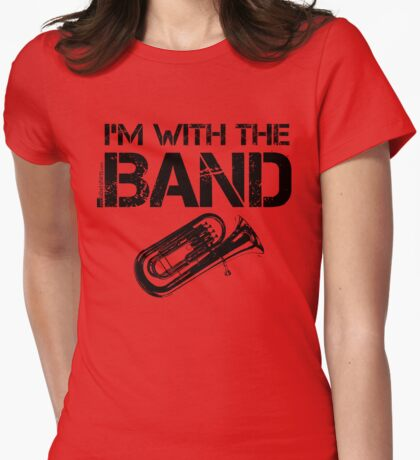 I'm With The Band - Tuba (Black Lettering) T-Shirt