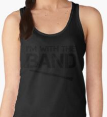 I'm With The Band - Clarinet (Black Lettering) Women's Tank Top