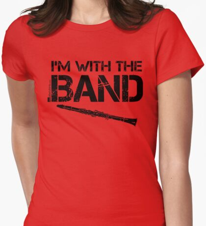 I'm With The Band - Clarinet (Black Lettering) T-Shirt