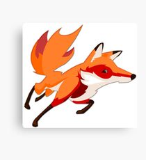 Sly Red Fox Running Canvas Print