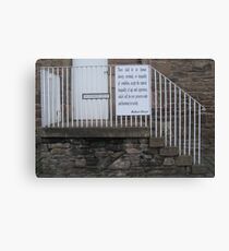New Lanark: There shall be no human slavery, servitude, or inequality Canvas Print
