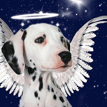 Dalmatian Angel Card by SalonOfArt