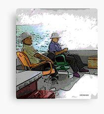 Unlikely Vacationers Canvas Print