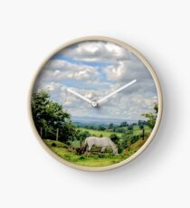English Country Landscape 6 Clock