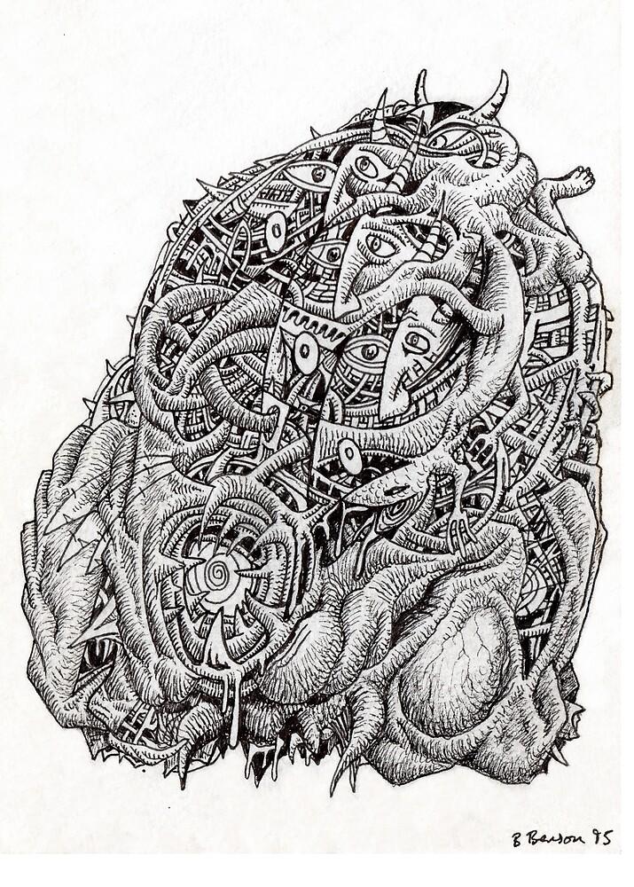 Cosmographic head by Brian Benson