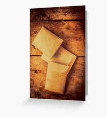 Rustic country soap bars Greeting Card