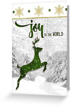 Joy to the World Reindeer Christmas by Doreen Erhardt