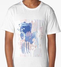 Retro vintage 80 Memphis style of fashion illustration Long T-Shirt