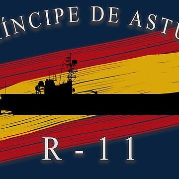 Aircraft carrier Prince of Asturias R-11 by camisetaencasa