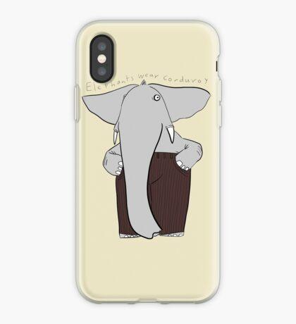 elephants wear corduroy iPhone Case