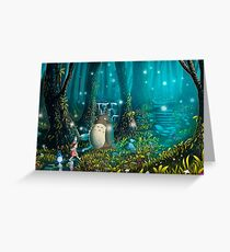 Totoro Forest Greeting Card