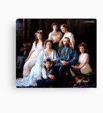 Colorized Romanoff Family Portrait 1913-14 Canvas Print