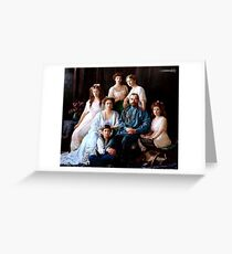 Colorized Romanoff Family Portrait 1913-14 Greeting Card