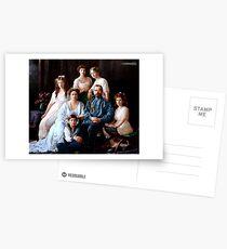 Koloriertes Romanoff-Familienporträt 1913-14 Postkarten