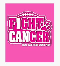 I Can Fight BREAST CANCER Real CAT Fans Wear Pink  Photographic Print
