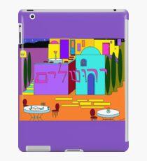 Jerusalem at Hanukkah in Jewel tones and lavender iPad Case/Skin