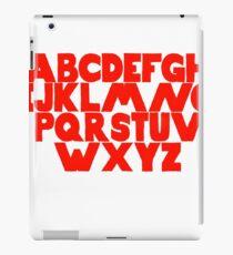English Alphabet  iPad Case/Skin
