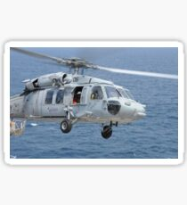 An MH-60S Sea Hawk search and rescue helicopter. Sticker