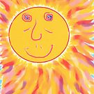1913 - Smiling Sun With Hypnotic Eyes by tigerthilo