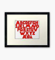 Norwegian Alphabet  Framed Print