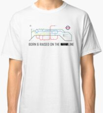 Newton Aycliffe - Born & Raised (Tube Style Map) - Central Classic T-Shirt