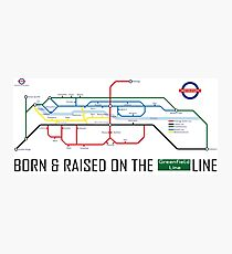 Newton Aycliffe - Born & Raised (Tube Style Map) - Greenfield Photographic Print