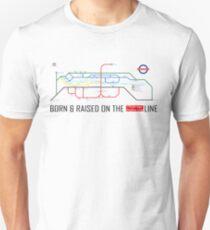 Newton Aycliffe - Born & Raised (Tube Style Map) - Shafto/Middridge T-Shirt