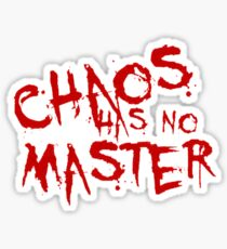 Chaos Has No Master Blood Red Graffiti Text  Sticker