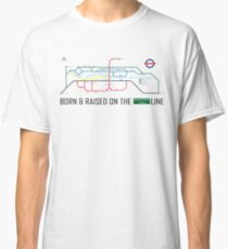 Newton Aycliffe - Born & Raised (Tube Style Map) - Greenfield Classic T-Shirt