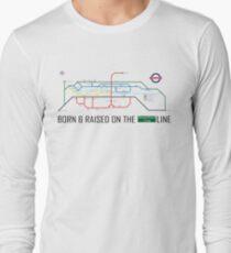 Newton Aycliffe - Born & Raised (Tube Style Map) - Greenfield T-Shirt