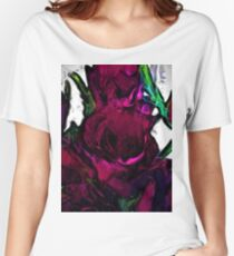 Dark Red Roses with some Pink Women's Relaxed Fit T-Shirt