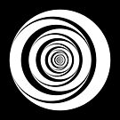 Black White Circles Sixties Optical Illusion by artsandsoul